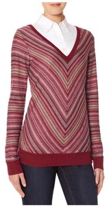 The Limited Fair Isle V-neck Machine Washable Pretty Lightweight Sweater