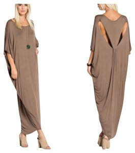 Black and Mocha Maxi Dress by