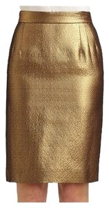 Moschino Metallic Skirt Gold Metallic