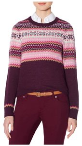 The Limited Fair Isle Gem Crew Neck Bling Rhinestones Sweater