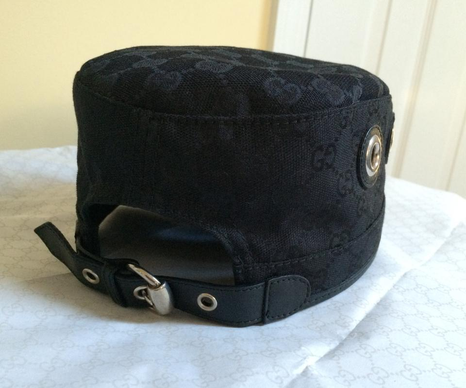 1ae10579 Gucci Original GG Canvas Military Cap with Grommets Image 11.  123456789101112