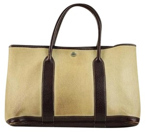 Herms Toile Bordeaux Neverfull Tote in Beige