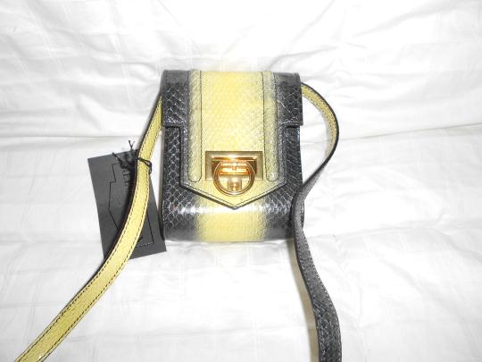 Reece Hudson Dramatic Design Snakeskin Made Cross Body Bag
