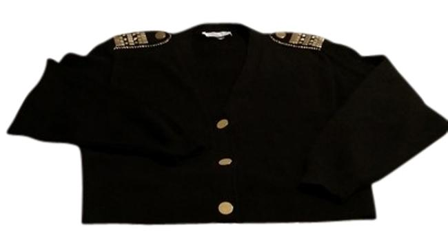Preload https://item4.tradesy.com/images/st-john-black-collection-by-marie-gray-cardigan-size-8-m-9654328-0-1.jpg?width=400&height=650