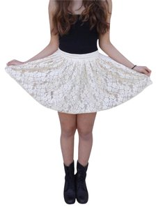 Forever 21 Mini Skirt White/Cream