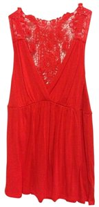 Forever 21 Lace Top Red