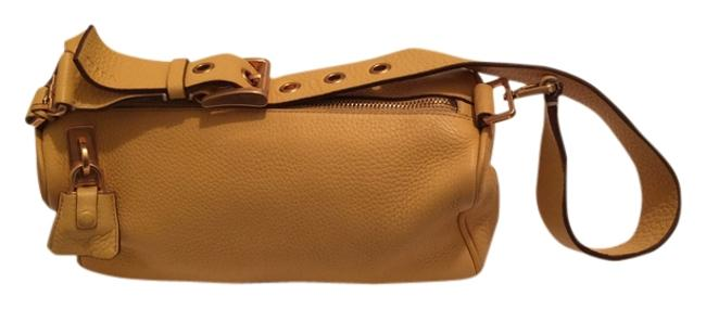 Item - With Strap Yellow Leather Baguette
