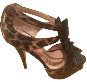Betsey Johnson Suede Pearl Leopard Pumps