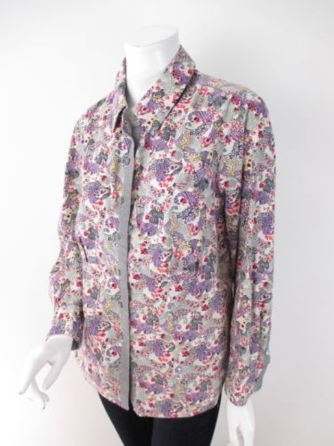 Preload https://item2.tradesy.com/images/cj-banks-purple-gray-pink-paisley-floral-gem-button-front-shirt-top-blouse-1x-9655141-0-0.jpg?width=400&height=650