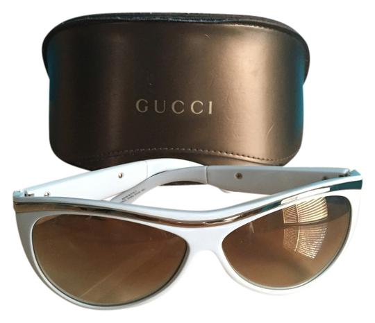 Preload https://item4.tradesy.com/images/gucci-white-and-gold-sunglasses-9655243-0-1.jpg?width=440&height=440
