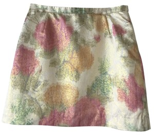 H&M Mini Skirt Pink/Green/Ivory