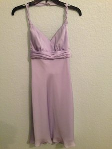 David's Bridal Lilac * Casual Bridesmaid/Mob Dress Size 0 (XS)