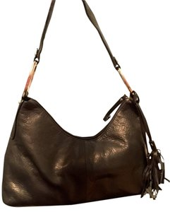 Alfani Boho Fringe Leather Pebbled Shoulder Bag