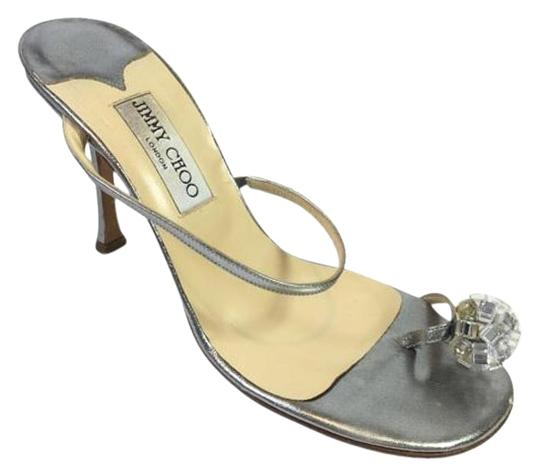 Jimmy Choo Sandal High Heels Crystal Wedding Silver Pumps