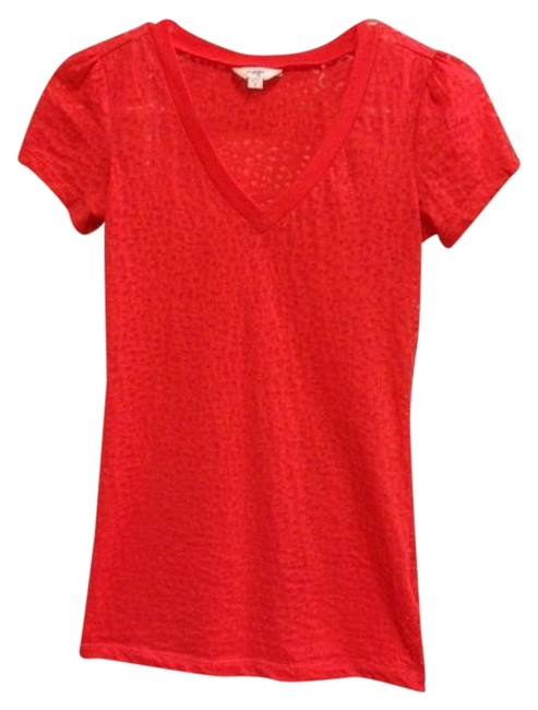 Energie Burnout T Shirt Coral Red