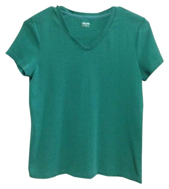 Preload https://item3.tradesy.com/images/cherokee-teal-green-tee-shirt-size-2-xs-965622-0-0.jpg?width=400&height=650