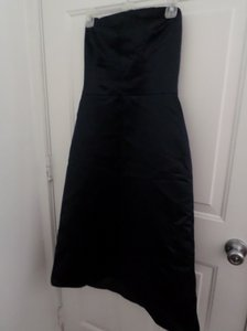 Bill Levkoff Navy Polyester Blue Formal Bridesmaid/Mob Dress Size 8 (M)