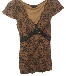 Ann Ferriday Top Tan / Blue
