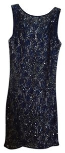 Aidan Mattox Beaded Sheath Sleeveless V-back Dress