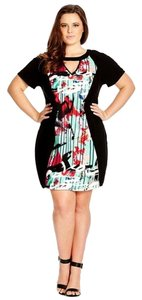 City Chic short dress Black multi Tunic Street Art Plus Plus Size on Tradesy