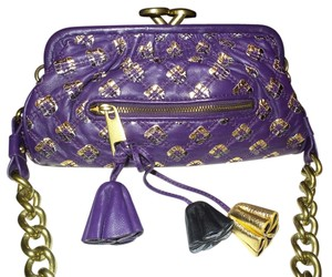 Marc Jacobs DARK PURPLE W/ GOLD ACCENT Clutch