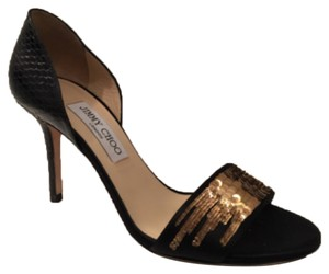 Jimmy Choo Black/Gold Formal