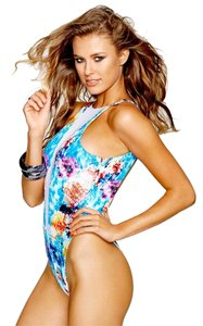 Beach Bunny Wave Lengths One-Piece Swimsuit S