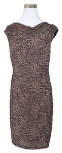 David Meister Animal Print Leopard Dress