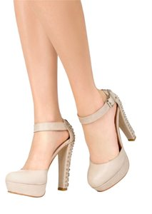 JustFab Studded Nude Pumps