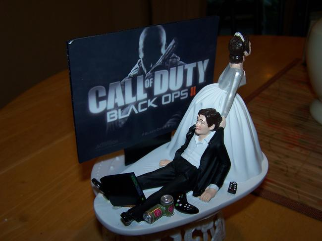 Item - Black and White Game Over Cake Topper