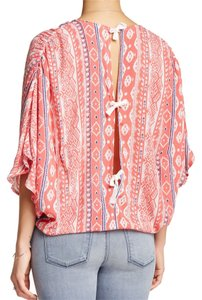 Love Stitch Wrap Top CORAL NAVY