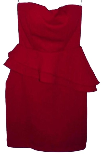 Item - Red Above Knee Cocktail Dress Size Petite 8 (M)