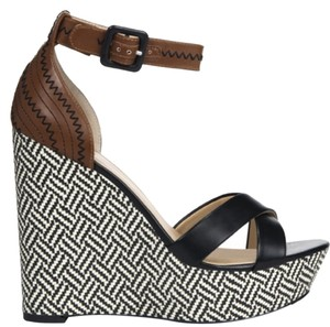 JustFab Sandal Wedge Brown Wedges
