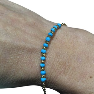 Argento Vivo Argento Vivo Gold And Turquoise Beads Bracelet