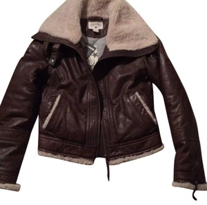 Converse Brown Leather Jacket