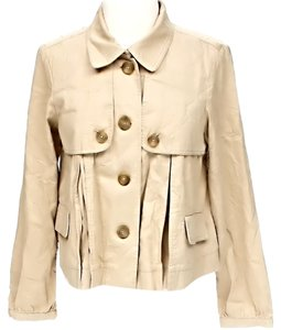 MICHAEL Michael Kors Pleated Signature Tan Jacket