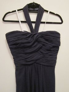 Monique Lhuillier Navy Monique Lhuillier Navy Bridesmaid Dress - Chiffon Strapless/halter Convertible Gown Dress