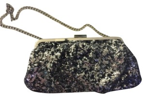 Jennifer Lopez Black And Silver Clutch