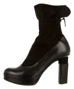 Fendi Ankle Leather black Boots