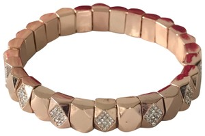 """Fossil Nwt Fossil Rose Gold Tone Pave Links Stretch Bracelet 7"""""""