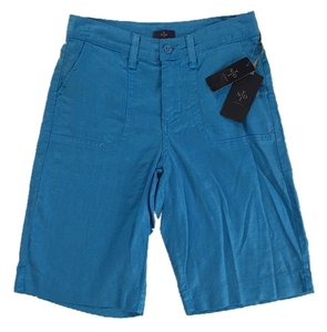 NYDJ Linen Blend Slimming Bermuda Shorts Blue