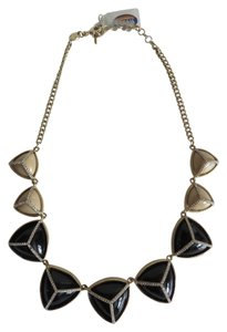 Fossil Nwt Fossil Black And Beige Stone And Pave Statement Necklace 16