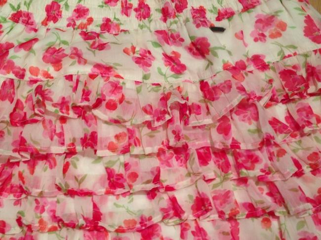 Hollister short dress Floral Pink Red on Tradesy