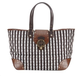 Henri Bendel Tote in Brown And White
