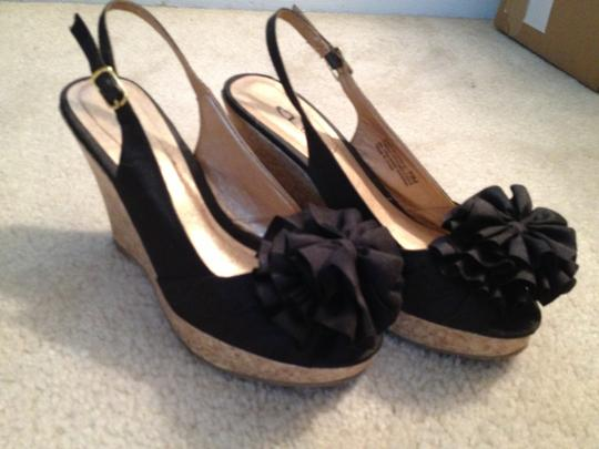 Chinese Laundry Black Wedges