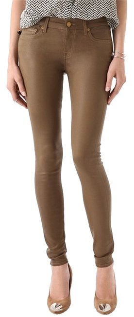 Item - Brown Coated Skinny Jeans Size 26 (2, XS)