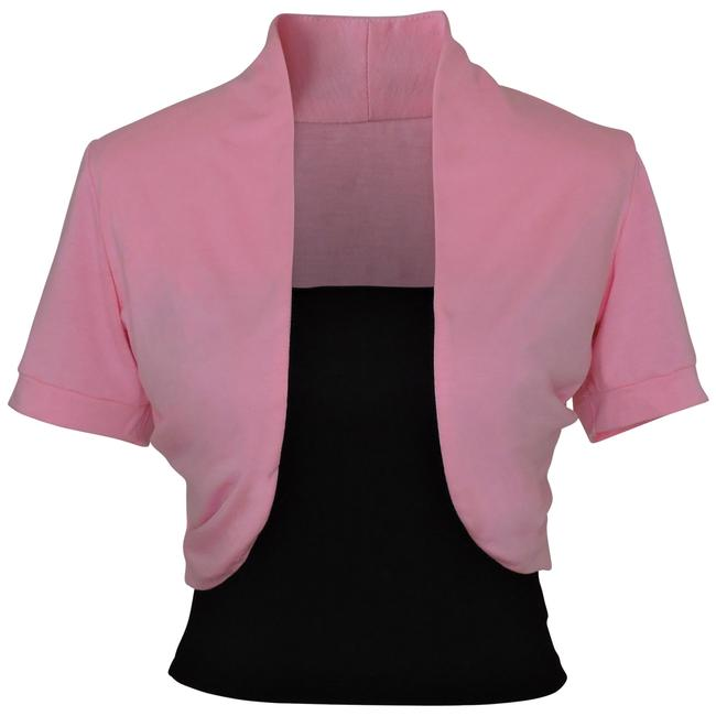 Preload https://item5.tradesy.com/images/pink-short-sleeve-bolero-shrug-w-tube-top-2-separate-pieces-cardigan-size-22-plus-2x-96614-0-1.jpg?width=400&height=650