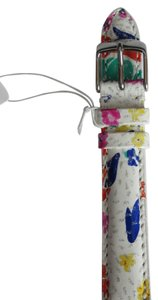 Michele Nwt Michele Multicolored White Pink Patent Leather 16MM Watch Band