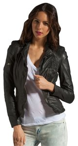 Muubaa Leather Moto Motorcycle Jacket