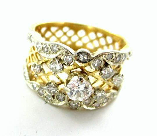 Other WEDDING RING BAND 22 DIAMOND 14KT SOLID KARAT YELLOW GOLD ENGAGEMENT ANTIQUE